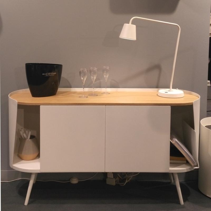 buffet m tal bois design armand amobois. Black Bedroom Furniture Sets. Home Design Ideas