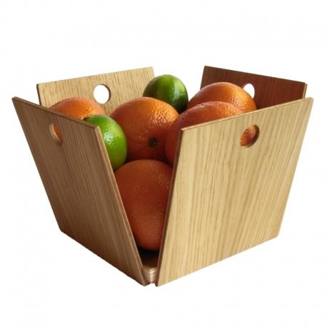 Corbeille à fruits design en bois 12 Pommes