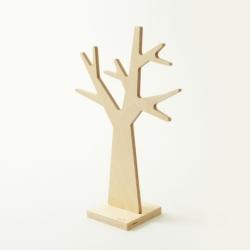 Porte-bijoux design en bois en forme d'arbre