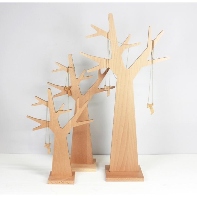 Porte bijoux design en bois en forme d 39 arbre amobois - Arbre a bijoux en bois ...