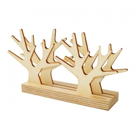 Sous-verre design en bois en forme d'arbre Sous bois