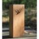 Horloge au design épuré en bois Click clock