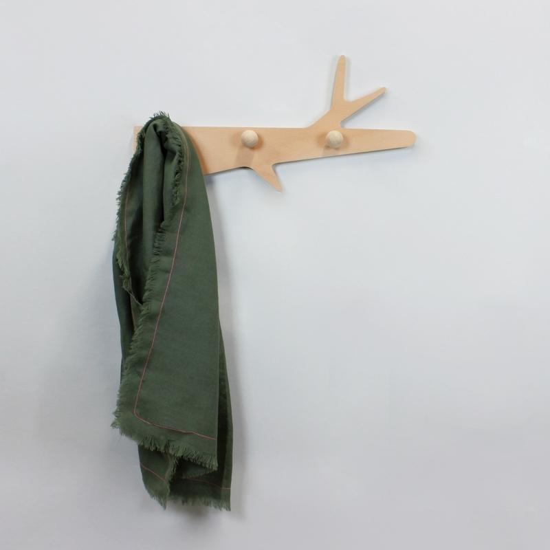 Porte manteaux en bois la branche amobois - Porte manteau branche ...