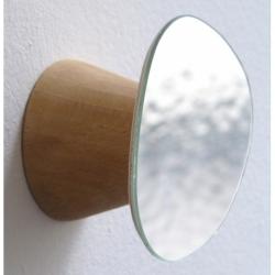 Patère et miroir au design champignon en bois Bolet