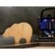 Dessous de plat design en bois et forme d'ours