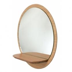 Miroir design avec tablette en bois Sunrise