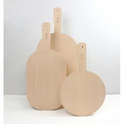 Planche à découper au design épuré en bois Toque toque toque