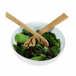 Couverts à salade design en bois du bout des feuilles