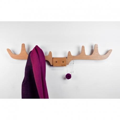 Porte-manteaux design en bois en forme de cornes de cerf Merlin