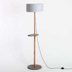 Lampadaire design avec piètement en bois massif Eos