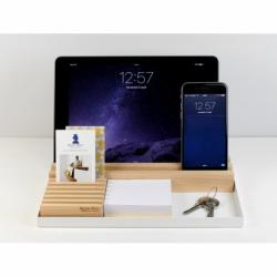 Organiseur de bureau au design épuré en bois Busy