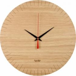 Horloge murale au design épuré en bois Austerlitz
