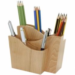 Pot à crayon design en bois Made in France