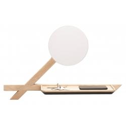 Étagère vide poche miroir design en bois de chêne massif français