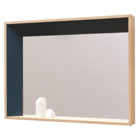 Miroir design biseauté en bois massif français BISO gauche