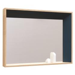 Miroir design biseauté en bois massif français BISO droite