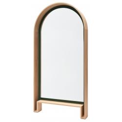 Grand miroir design en bois massif de fabrication française BIPEDE