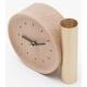 Horloge soliflore design en bois massif français et laiton TIK TOK