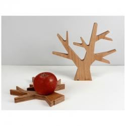 Dessous de plat design en bois et forme d'arbre