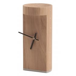 Horloge à poser design en bois massif de chêne CARMEN