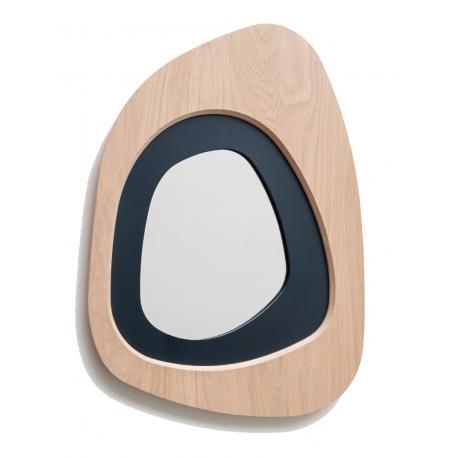Miroir Galet en bois de Chêne et Frêne fabriqué en France