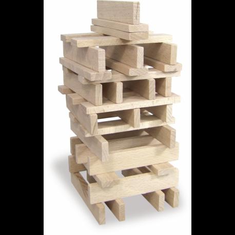 Batibloc classic 100 planchettes en bois massif