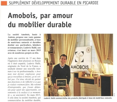 Article AMOBOIS Picardie La Gazette