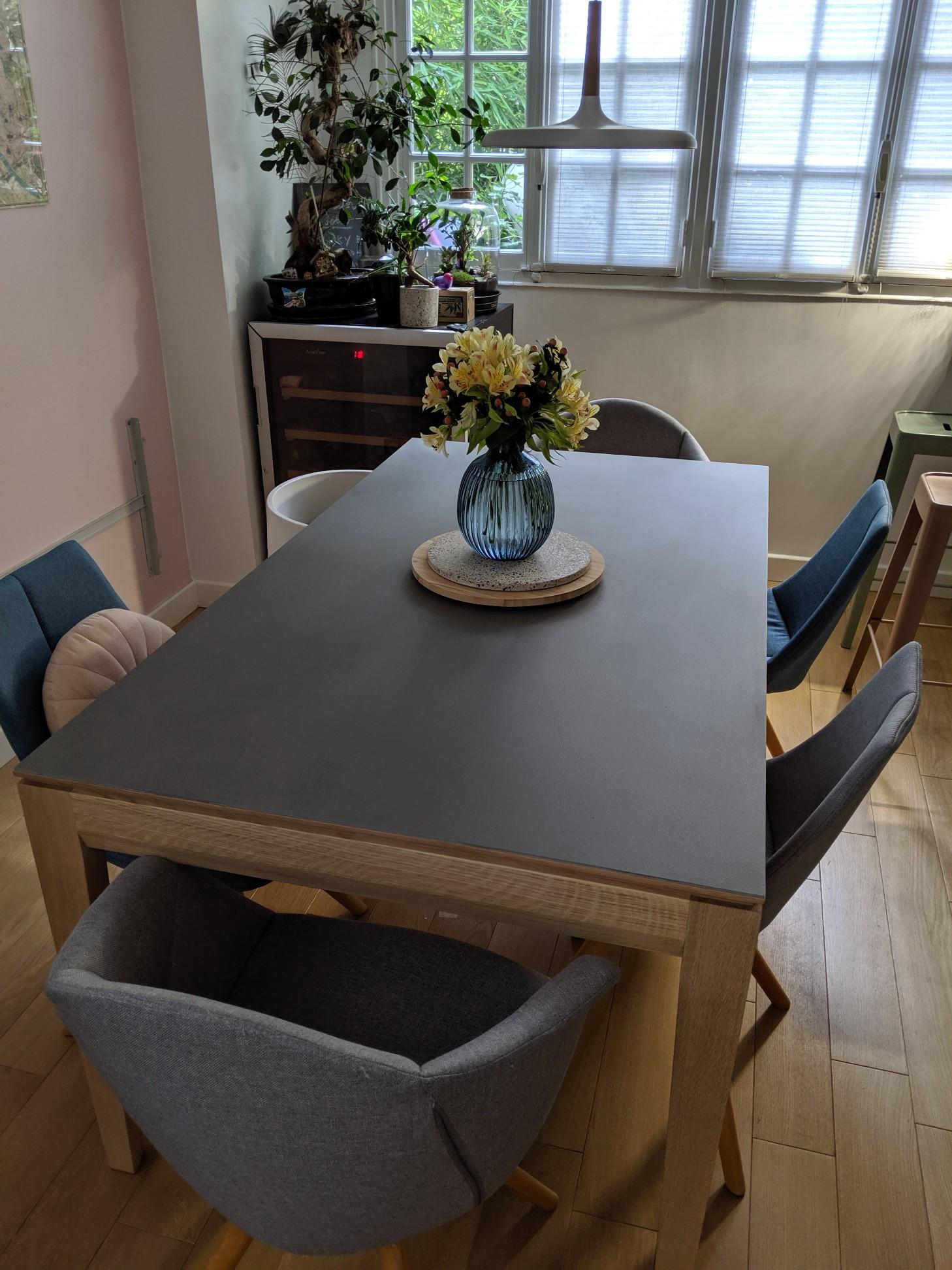 Table design bois Dasras